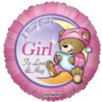 "BABY GIRL BALLOON 18""  19148-18"